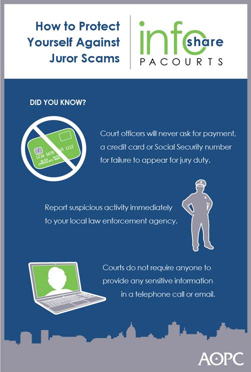 Protect yourself against juror scams