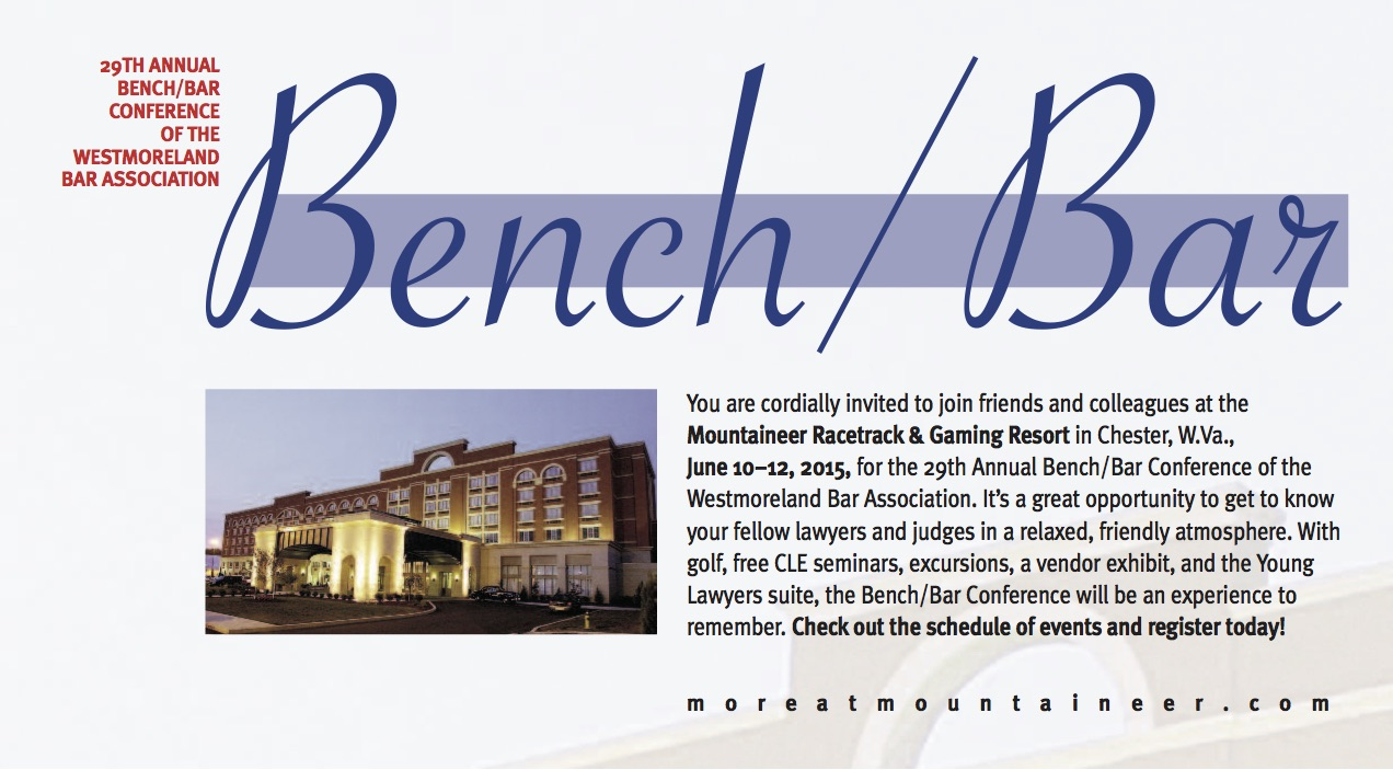 Register for the 2015 Bench/Bar Conference