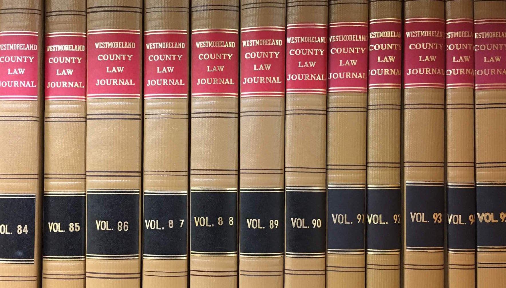 Westmoreland Law Journal bound volumes